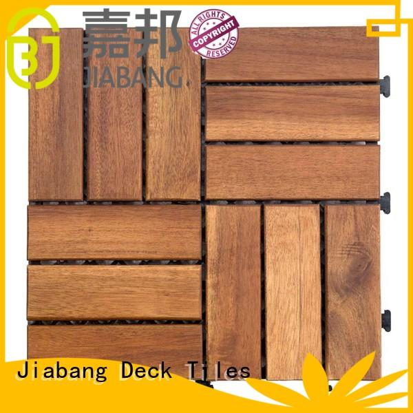 JIABANG anti-slip acacia wood deck tile for decoration