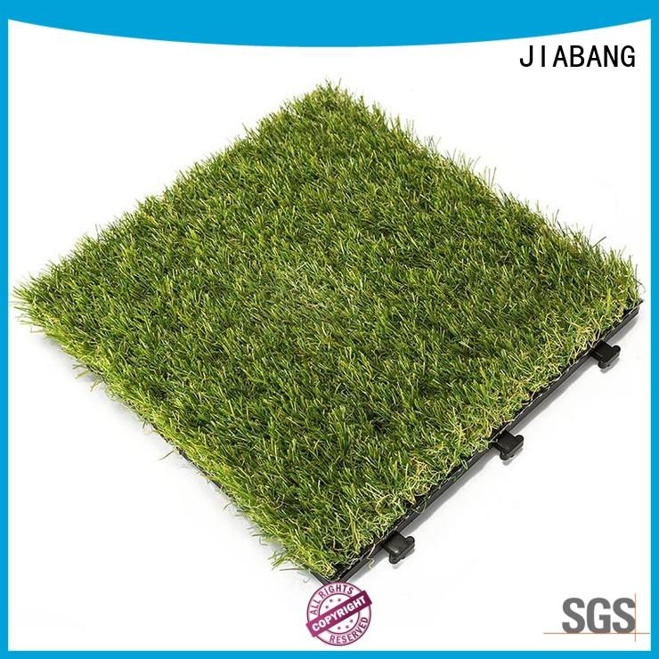 JIABANG landscape deck tiles on grass artificial grass garden decoration