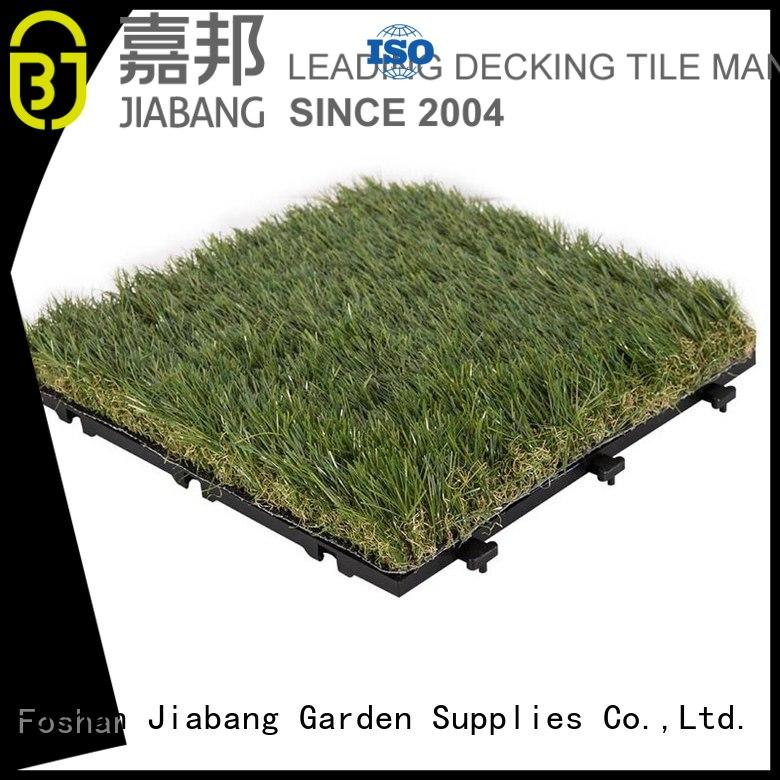 artificial grass carpet tiles chic design for garden JIABANG