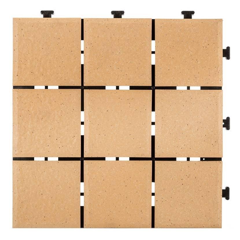 JIABANG 0.8cm ceramic interlocking tiles JB5014B 0.8cm Ceramic Deck Tiles image133