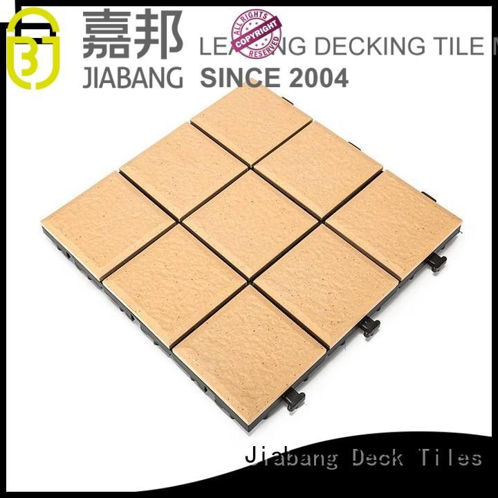 interlocking outdoor porcelain tile deck at discount for garden JIABANG