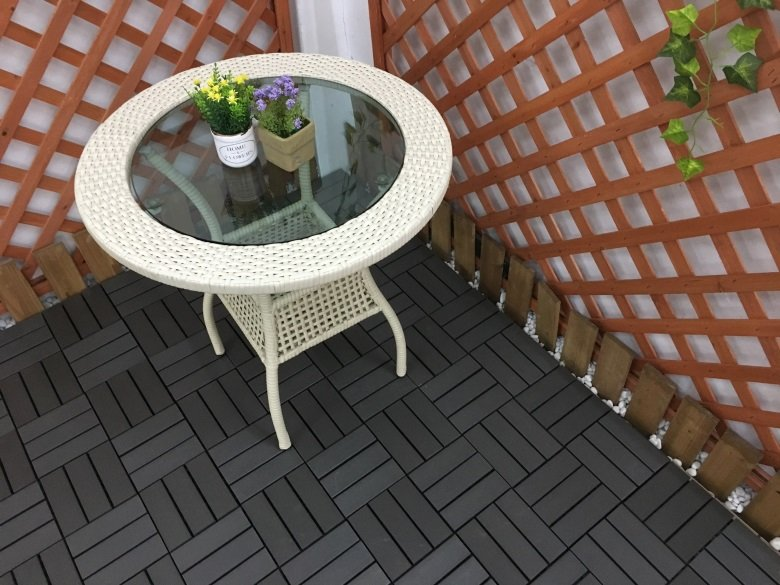 Woodland plastic deck tiles PS8P30312LGC-8