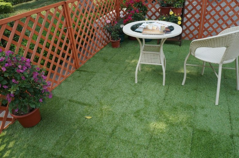 Patio floor artificial grass deck tiles G001-2-6
