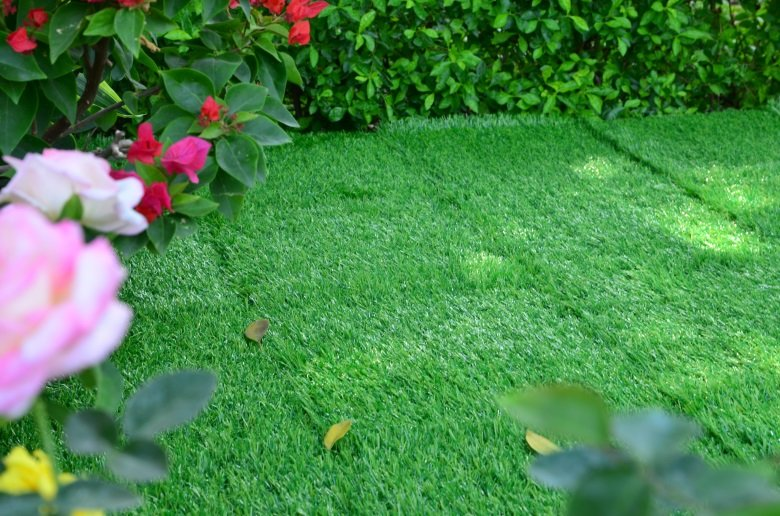 landscape plastic grass tiles at discount garden decoration JIABANG-7