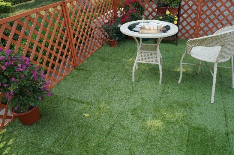 patio landscape artificial grass JIABANG Brand grass floor tiles supplier