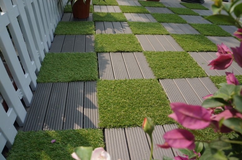 Garden path artificial grass deck tiles G001-4-6