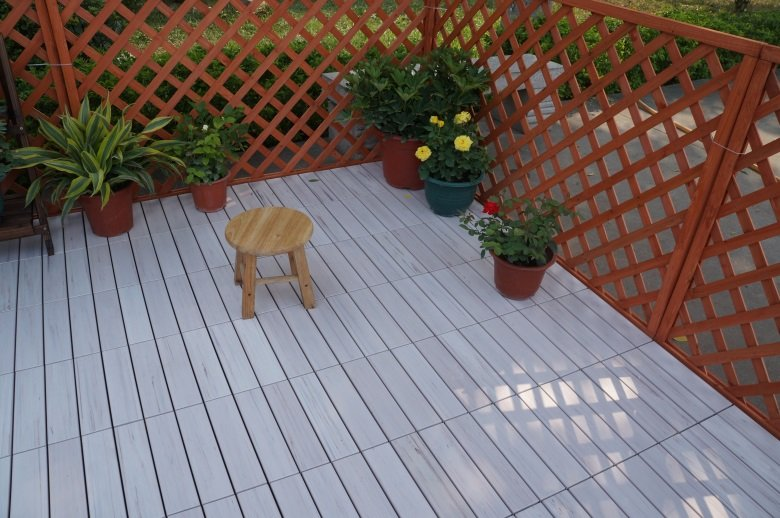 Garden floor woodland plastic deck tiles PS8P30312TKH-8