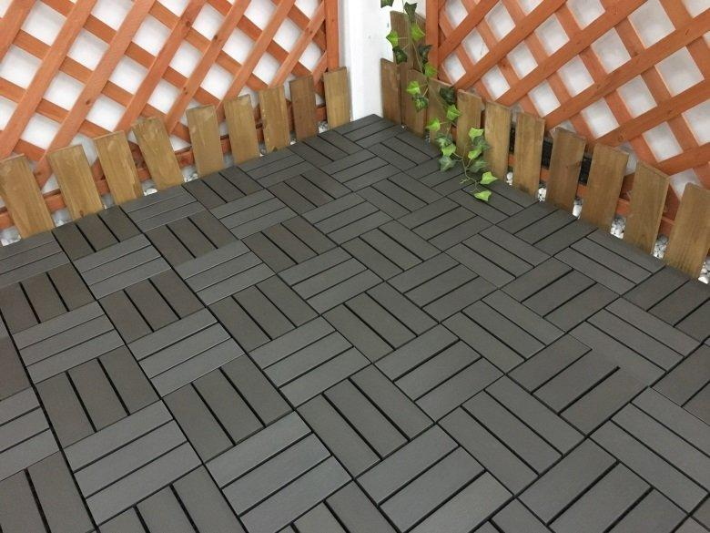 home woodland plastic decking tiles garden JIABANG