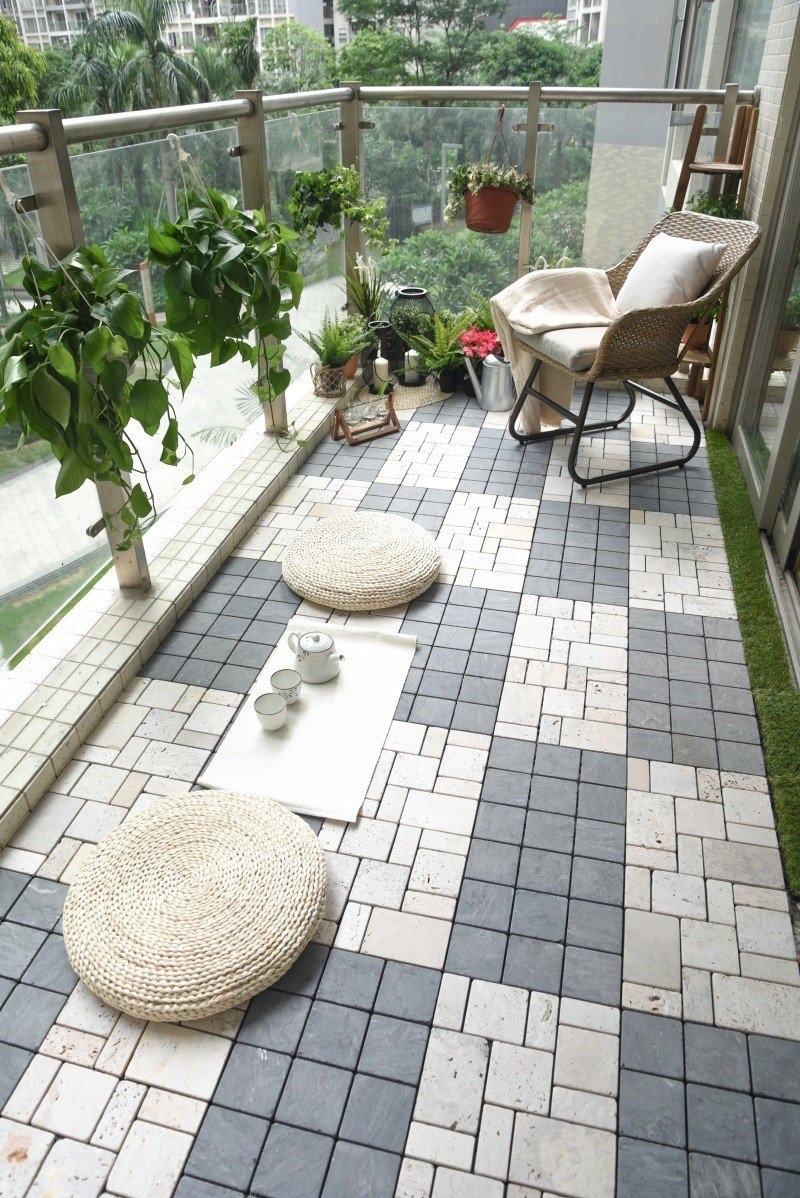 interlocking stone tile flooring