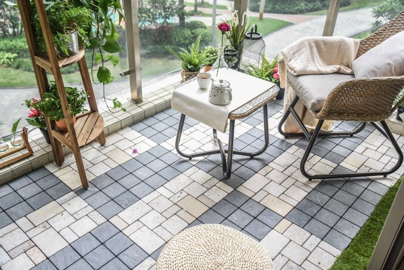 JIABANG outdoor tumbled travertine floor tiles at discount for garden decoration-7
