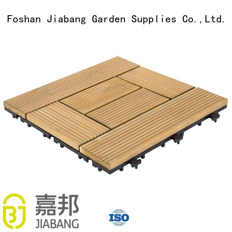 hardwood deck tiles natural wooden floor JIABANG