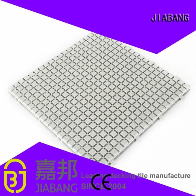 plastic floor tiles bathroom floor for customization JIABANG