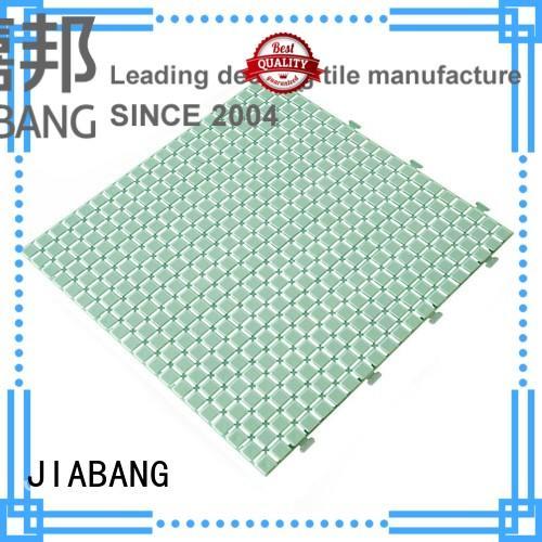 plastic floor tiles outdoor pink yellow JIABANG Brand