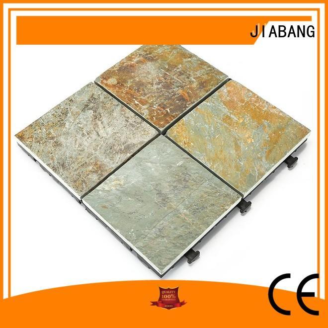 JIABANG non-slip interlocking stone deck tiles floor decoration swimming pool