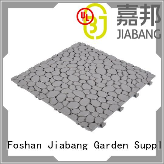 Quality JIABANG Brand plastic floor tiles outdoor black