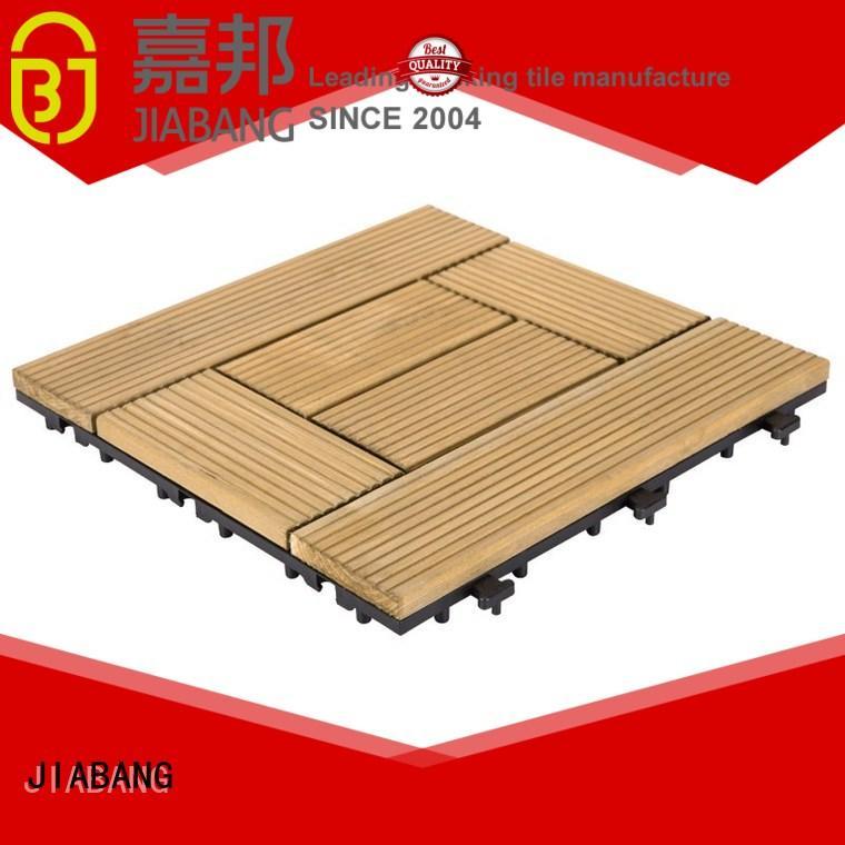 JIABANG refinishing interlocking wood deck tiles flooring for garden