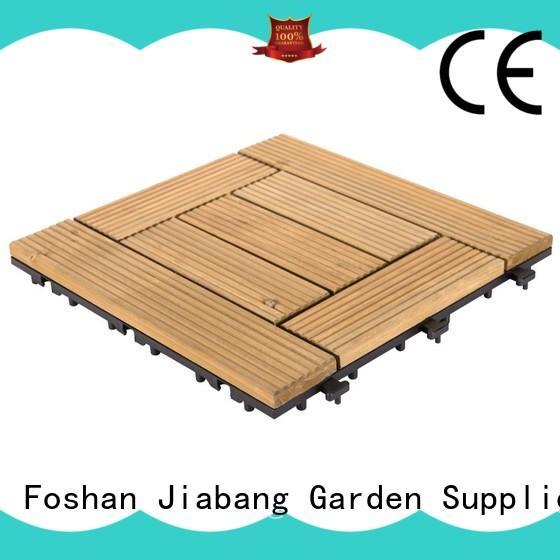 JIABANG natural interlocking wood deck tiles wooddeck for garden