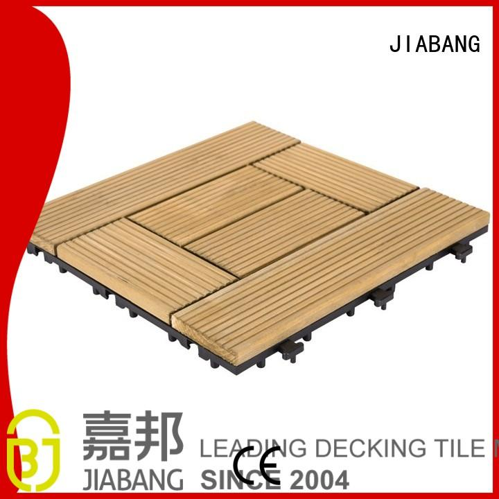 Wholesale patio interlocking wood deck tiles JIABANG Brand