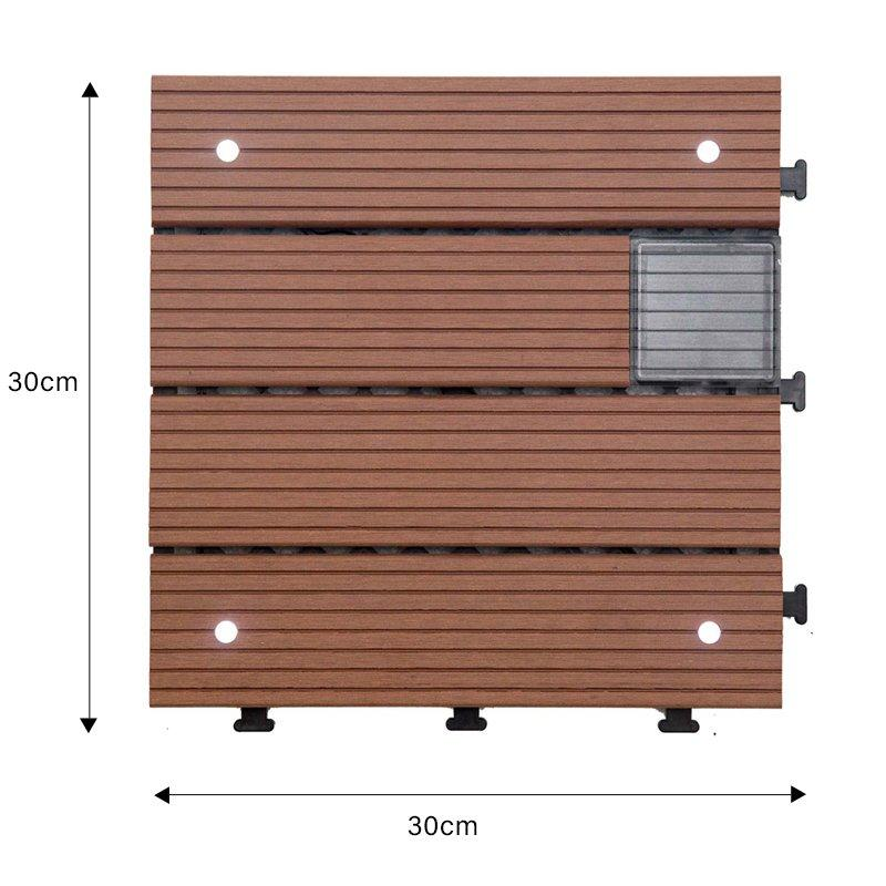 solar light decking tile