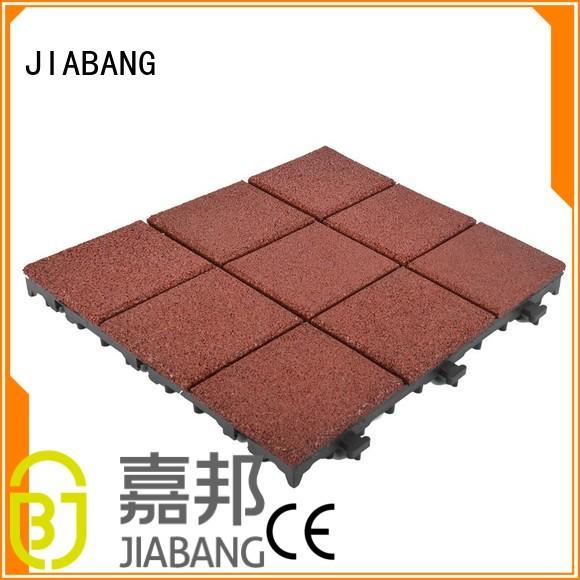 JIABANG Brand interlock outside interlocking rubber mats manufacture