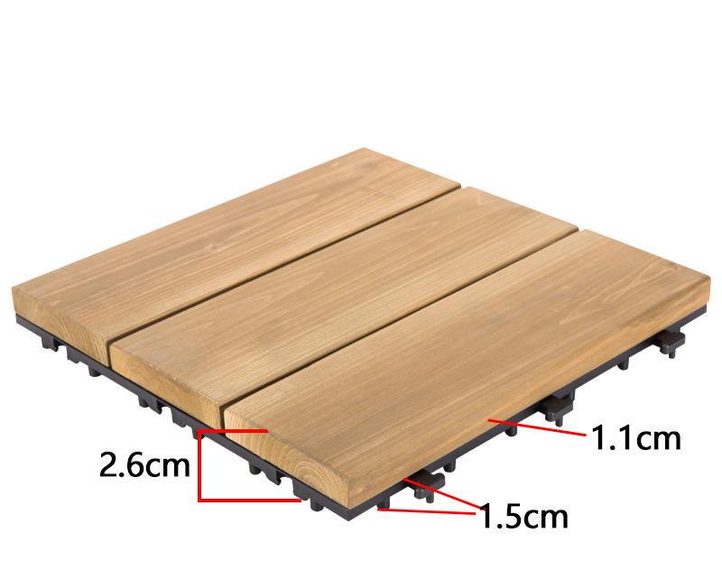 adjustable wooden decking squares natural long size wooden floor-3