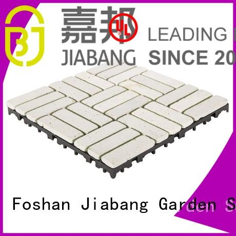 yellow decking click travertine deck tiles JIABANG