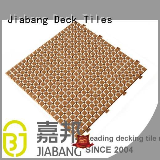Hot plastic floor tiles outdoor floor JIABANG Brand