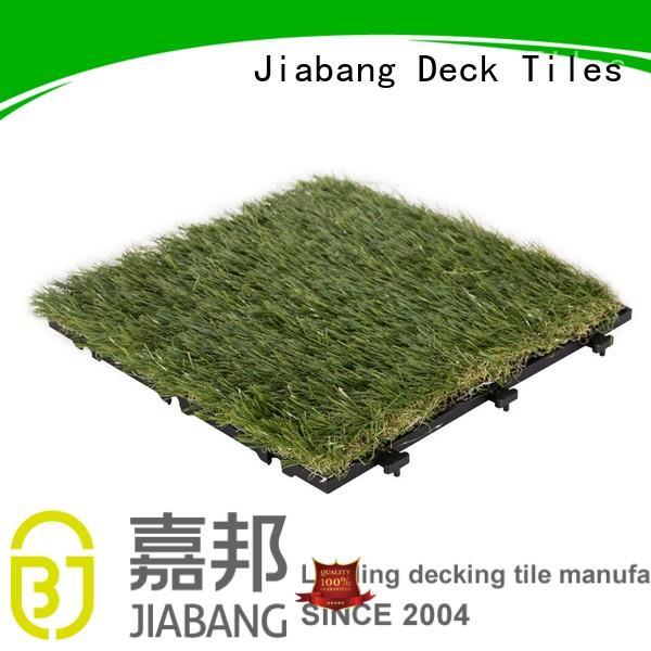 design permeable outdoor grass tiles turf backing JIABANG Brand