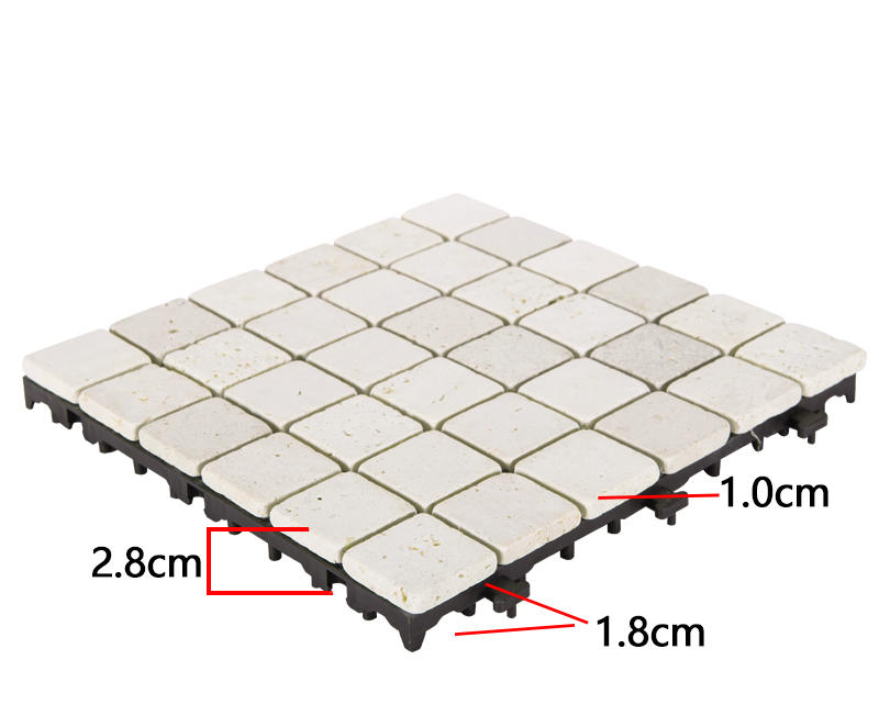 Special design of click DIY tiles for distribution TTS36P-YL-3