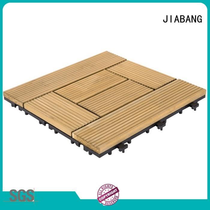 JIABANG adjustable wooden decking squares long size wooden floor