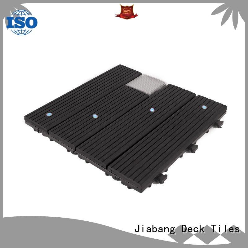 led snap together deck tiles decorative ground JIABANG