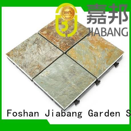 JIABANG diy real stones exterior slate tile basement decoration swimming pool