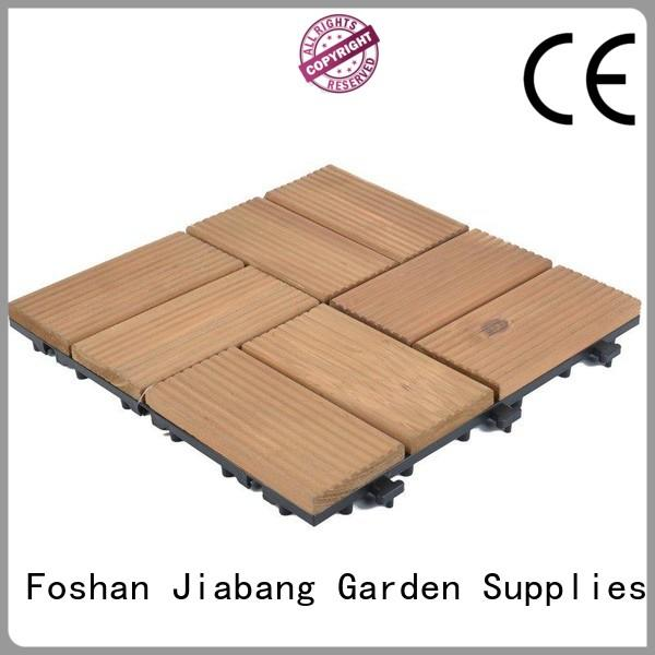 JIABANG diy wood interlocking wood deck tiles wood deck for balcony