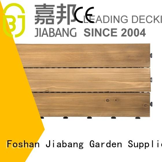 adjustable interlocking wood deck tiles long size for balcony