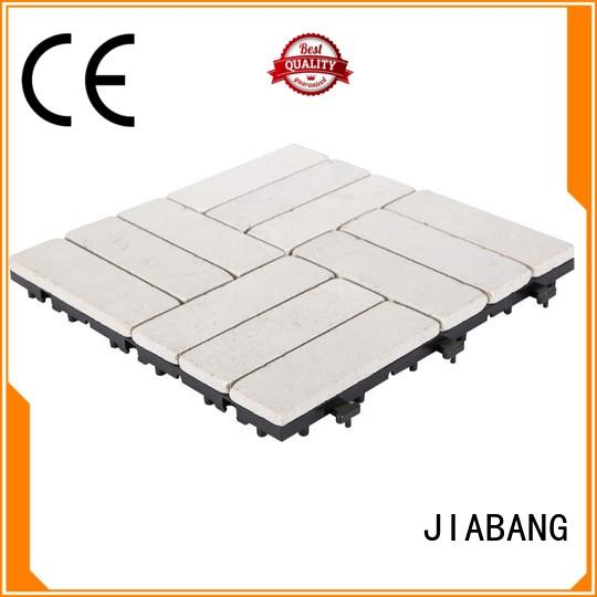 JIABANG interlocking travertine tile outdoor use outdoor from travertine stone