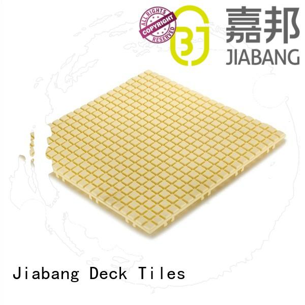 plastic floor tiles outdoor anti cream yellow Warranty JIABANG