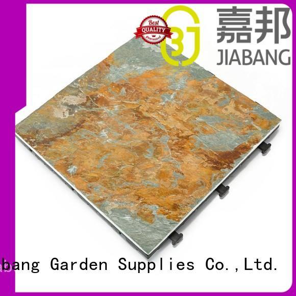slate tile interlocking stone deck tiles stones garden JIABANG company