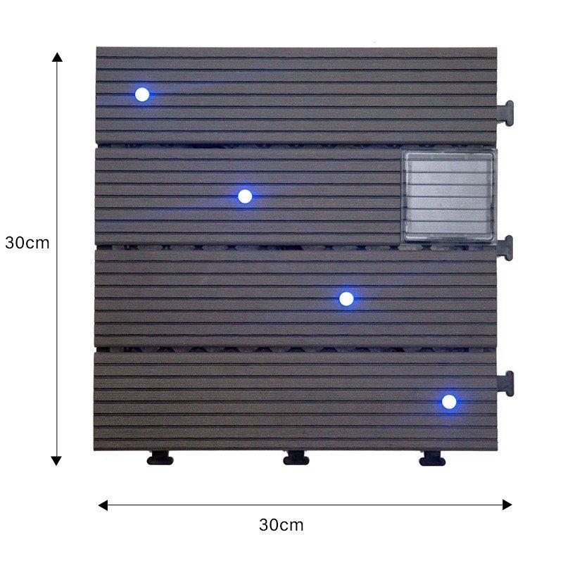 LED light deck tile