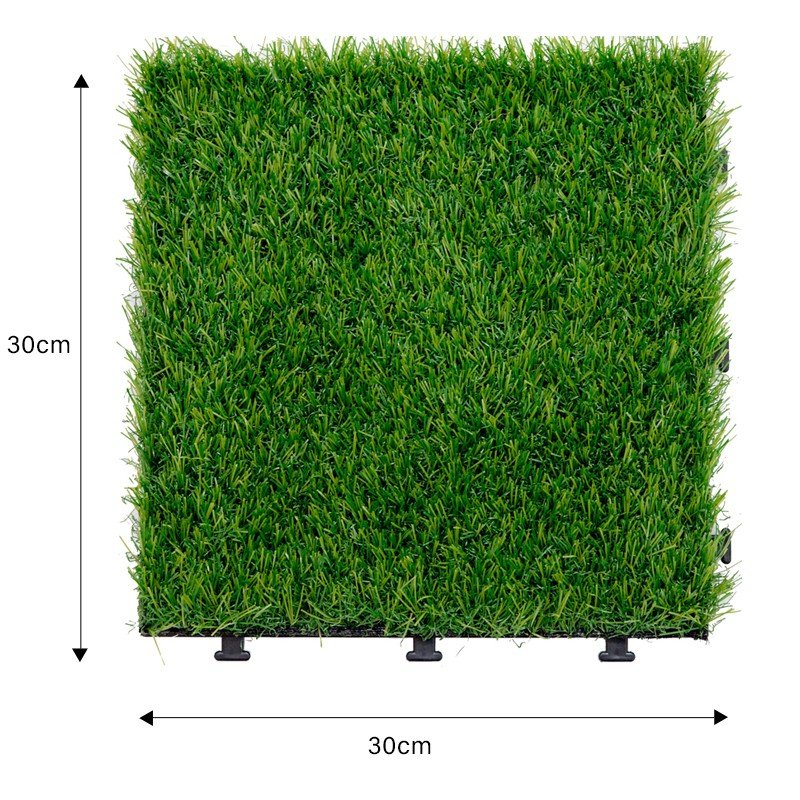 Artificial turf decking tile