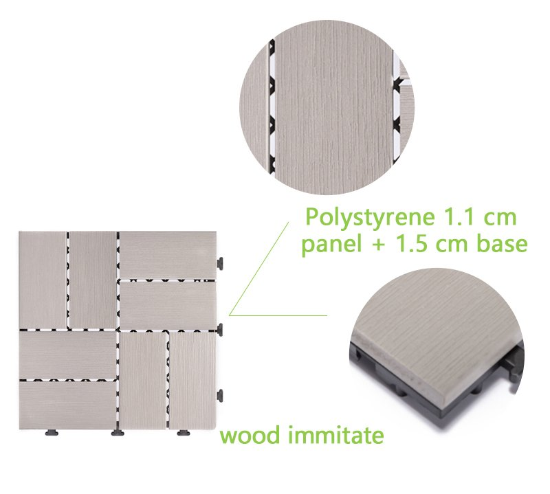 Woodland plastic deck tiles PS8P30312LGC-4