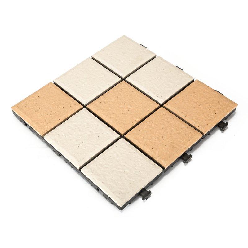 Interlocking Plastic Garden Tiles
