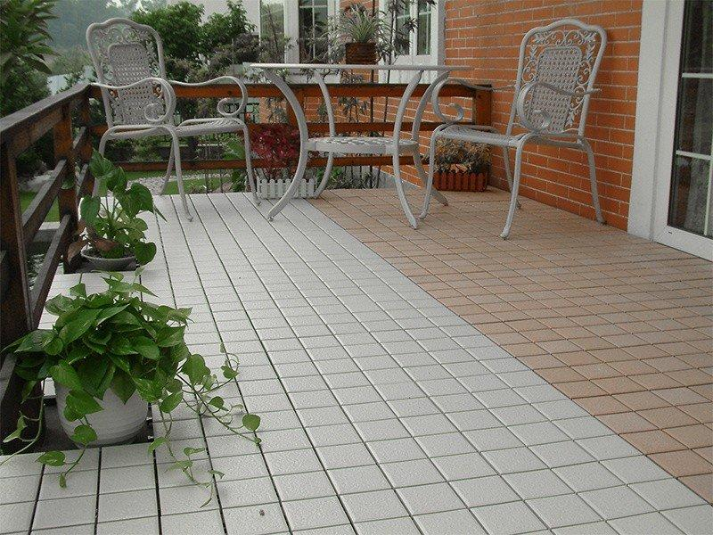 patio deck ceramic roof ceramic interlocking tiles JIABANG Brand