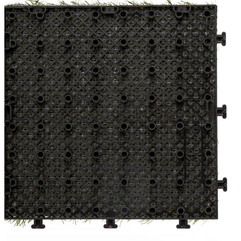 JIABANG Patio floor artificial grass deck tiles G001 Normal Grass Deck Tile image93