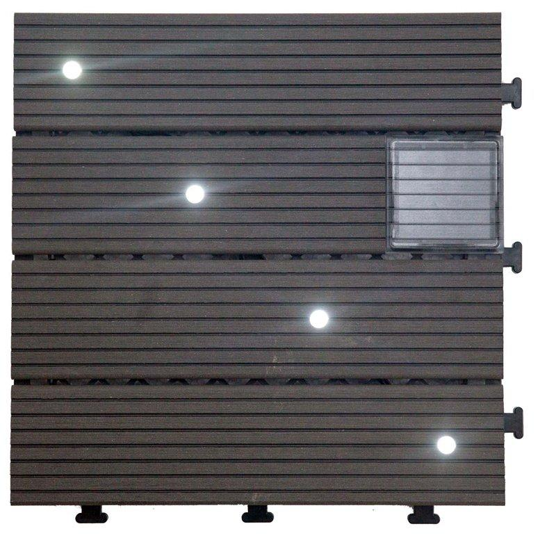 Garden ground LED solar light deck tiles SSLW-WPC30- LDX