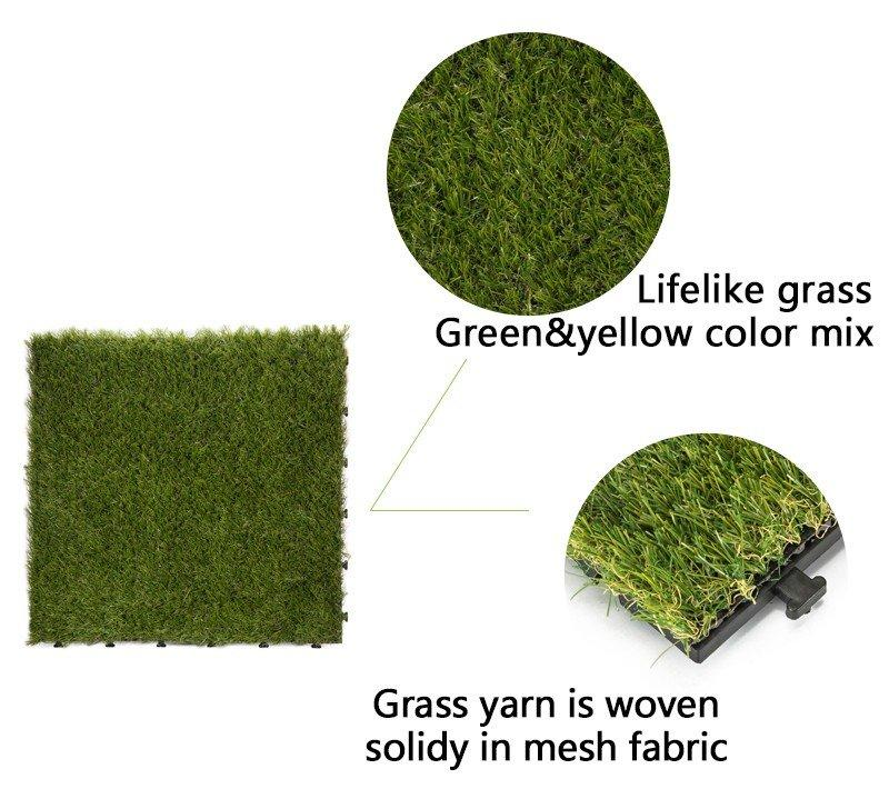 landscape plastic grass tiles at discount garden decoration JIABANG