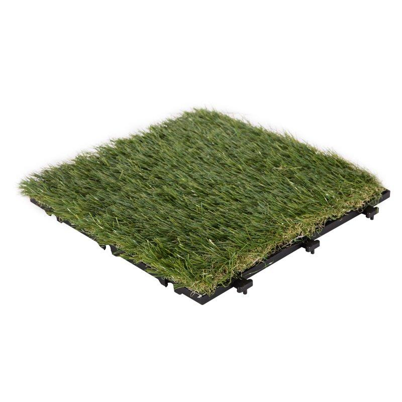 Garden grass permeable artificial grass deck tiles G016