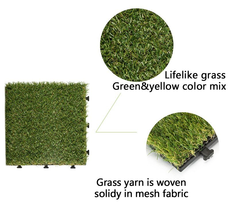 JIABANG artificial grass squares easy installation for garden-3