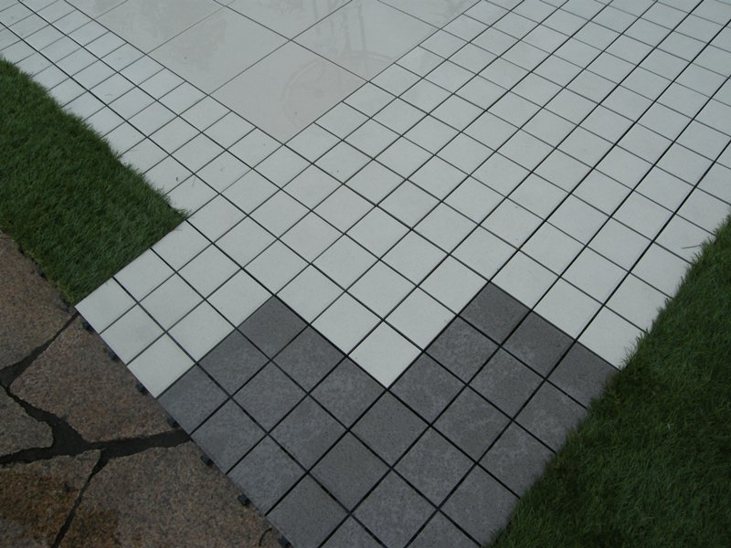 OBM porcelain interlocking deck tiles cheap price for patio decoration-6