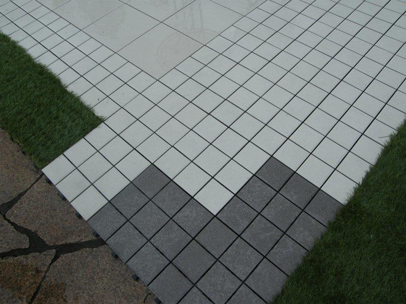 OBM porcelain interlocking deck tiles cheap price for patio decoration