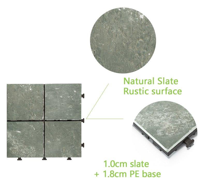 Outdoor natural interlocking slate stone tile online JBT003-4
